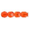 Fire Polished 7mm Transparent Light Orange